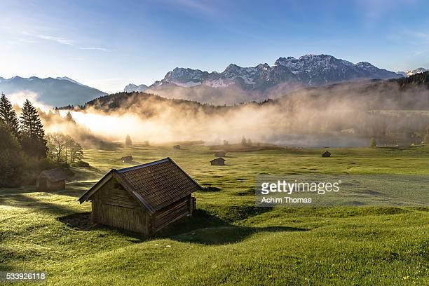 lake geroldsee - bavaria - germany - hut stock pictures, royalty-free photos & images