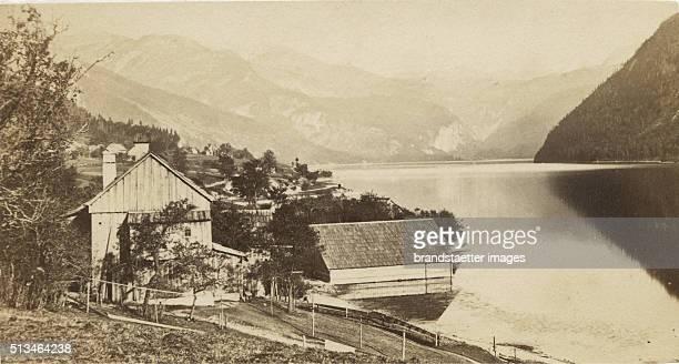 Lake Grundlsee Circa 1870 Carte De Visite Photograph By Wilhelm Burger