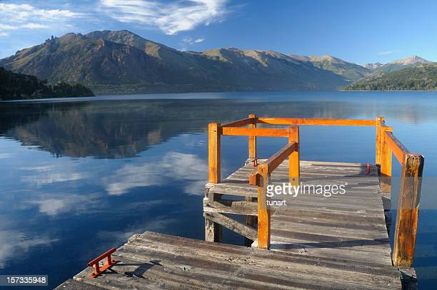 lake gutierrez, bariloche, patagonia, argentina - bariloche stock pictures, royalty-free photos & images