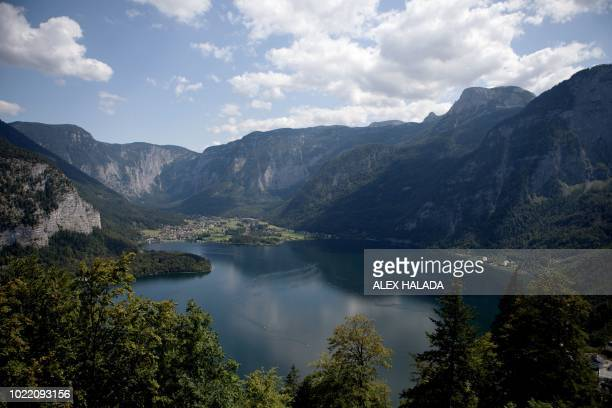 Lake Hallstatt in Austria is pictured on August 16 2018 Like for all mines a fresh round of strengthening work has become necessary for Hallstatt the...
