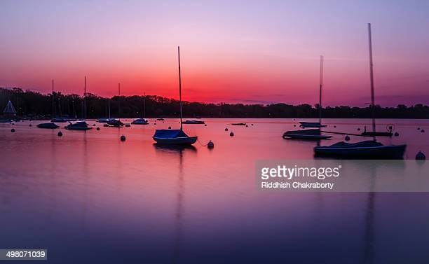 lake harriet sunrise - harriet stock photos and pictures
