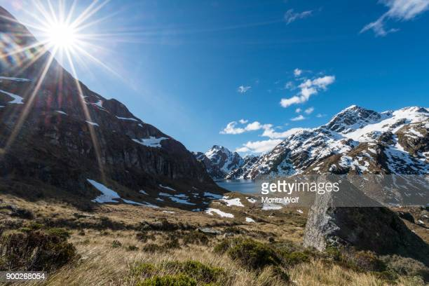Lake Harris, Conical Hill, Routeburn Track, Mount Aspiring National Park, Westland District, West Coast, Southland, New Zealand