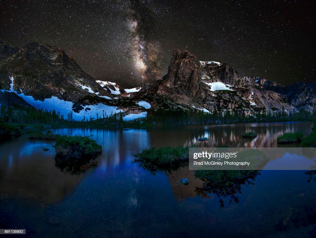 Lake Helene night : Stock Photo