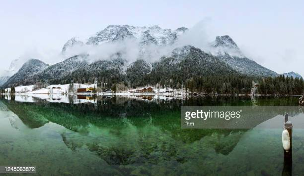 lake hintersee (berchtesgadener land, bavaria/ germany) - berchtesgaden stock pictures, royalty-free photos & images