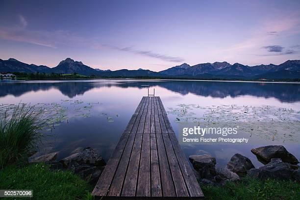 Lake Hopfen Bavaria before sunrise