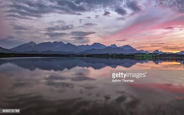 lake hopfensee, allgau, bavaria - germany, europe - achim thomae stock-fotos und bilder