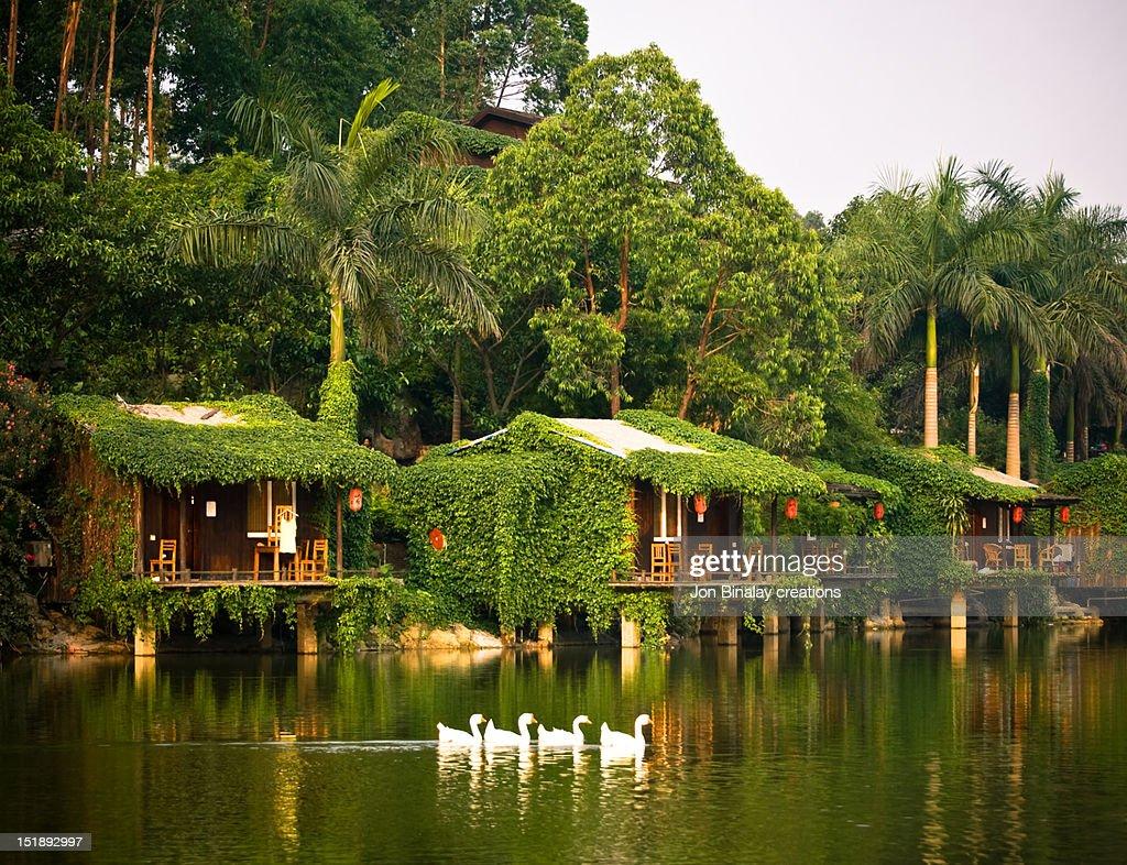 Lake houses : Stock Photo