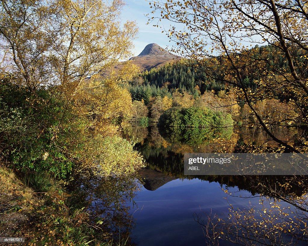 Lake in Glencoe Lochan, Glencoe, Highlands, Scotland : Stock Photo