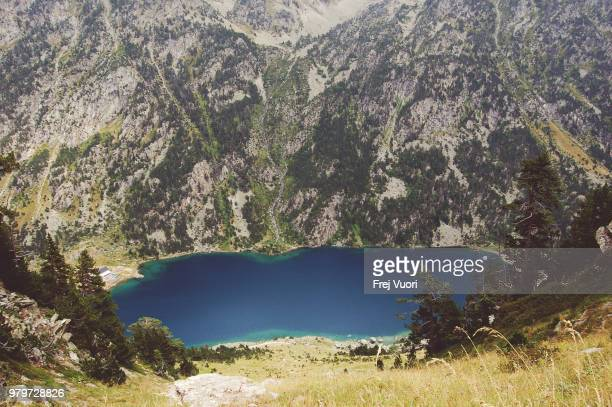 lake in mountains, france - frej stock pictures, royalty-free photos & images