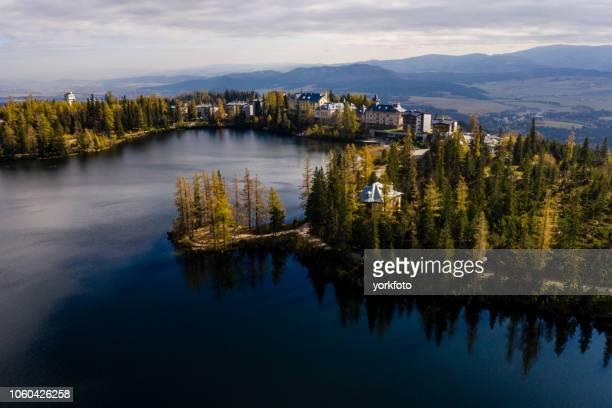 lake in slowakije - hungary stockfoto's en -beelden