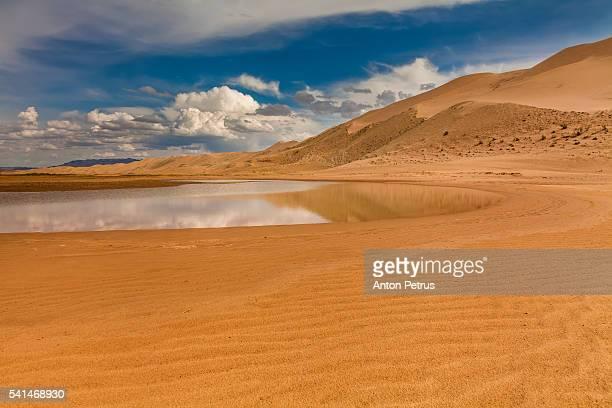 Lake in the Gobi desert