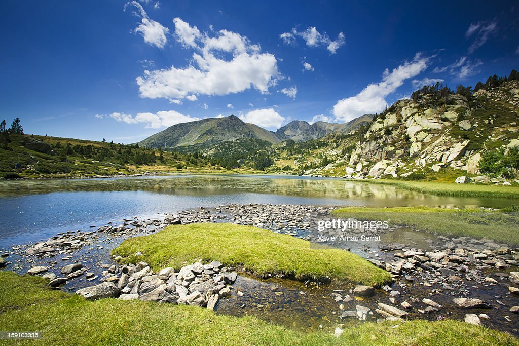 Lake in the Pyrenees : Stock Photo