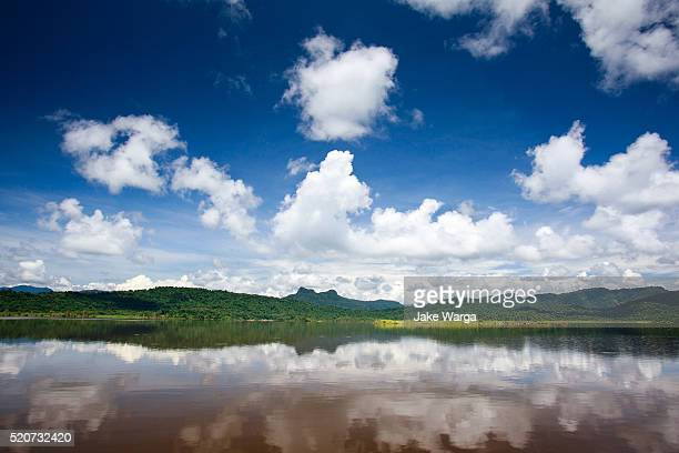 lake in the sepik river basin, papua new guinea - jake warga stock pictures, royalty-free photos & images