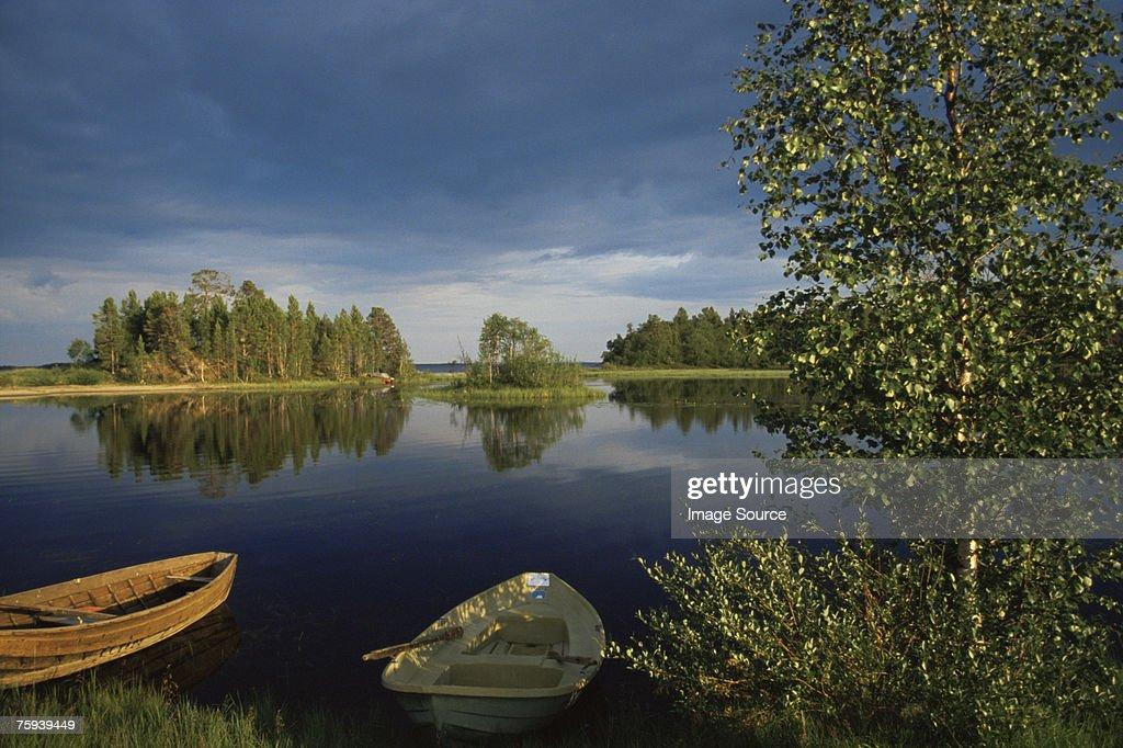 Lake inari : Stock Photo
