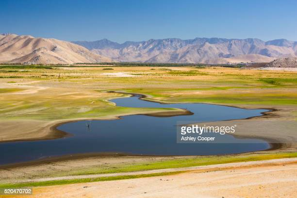 Lake Isabella near Bakersfield, East of California's Central valley is at less than 13% capacity