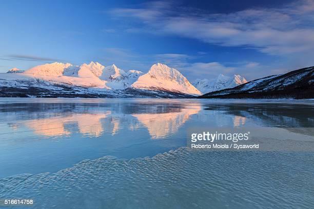 Lake Jaegervatnet Lyngen Alps Norway