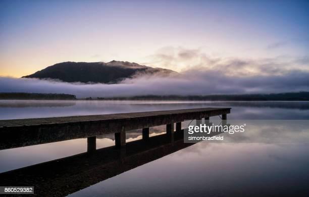 Lake Kaniere At Dawn, New Zealand's South Island