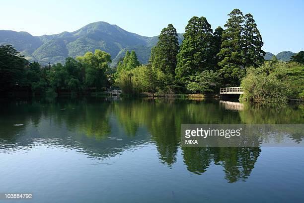 lake kinrin, yufu, oita, japan - 大分県 ストックフォトと画像