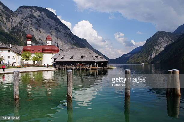 lake königssee - königssee bavaria stock photos and pictures