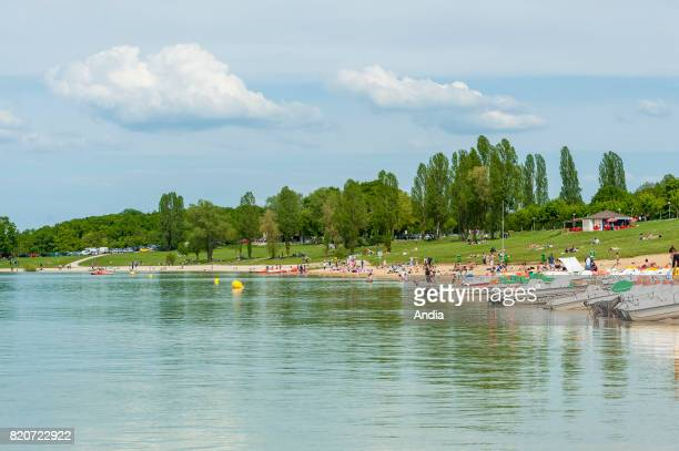 Lake 'lac d'Orient' or 'lacreservoir Seine' a conservation storage reservoir in the Orient Forest Regional Nature Park Sports and recreation park...