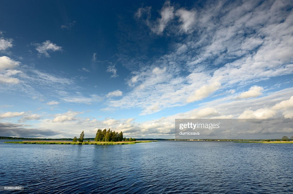 lake landscape in summer : Stock Photo
