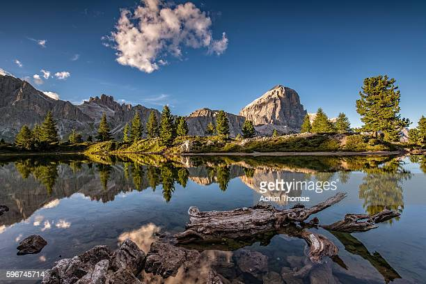 Lake Limides, Dolomite Alps, South Tyrol, Italy, Europe