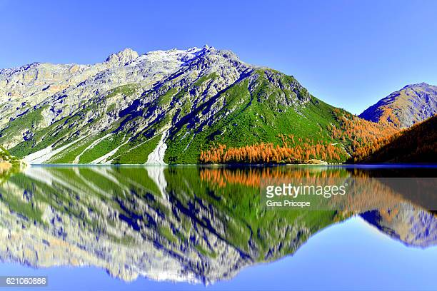 Lake Livigno in Lombardy, Italy.