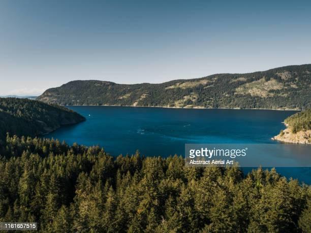 lake lookout, duncan, canada - vancouver island stockfoto's en -beelden