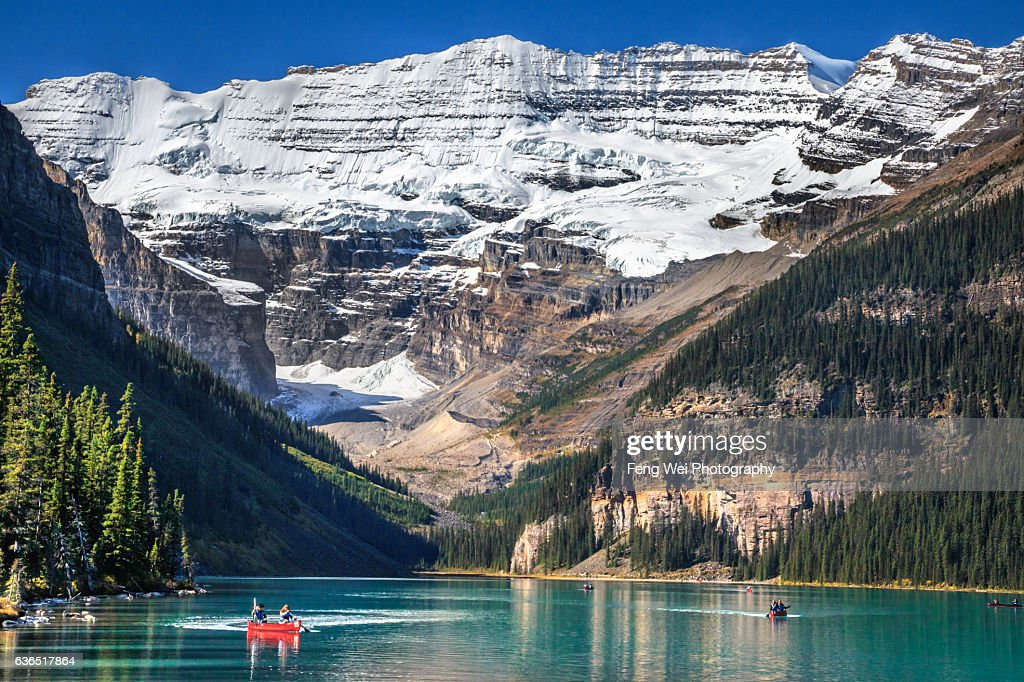 Lake Louise, Banff National Park, Alberta, Canada : Stock Photo