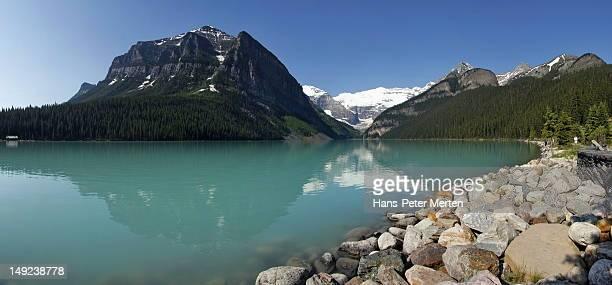 lake louise, banff nationalpark, canada - kanada imagens e fotografias de stock