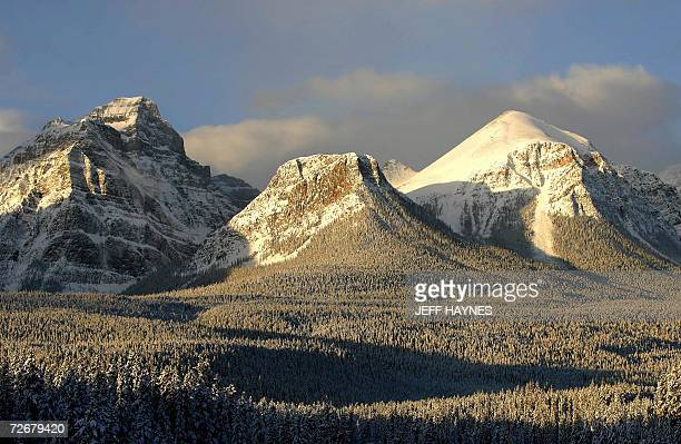The Canadian Rockies in the Banff National Forest 30 November 2006 during morning sunrise In the fall of 1883 three Canadian Pacific Railway...