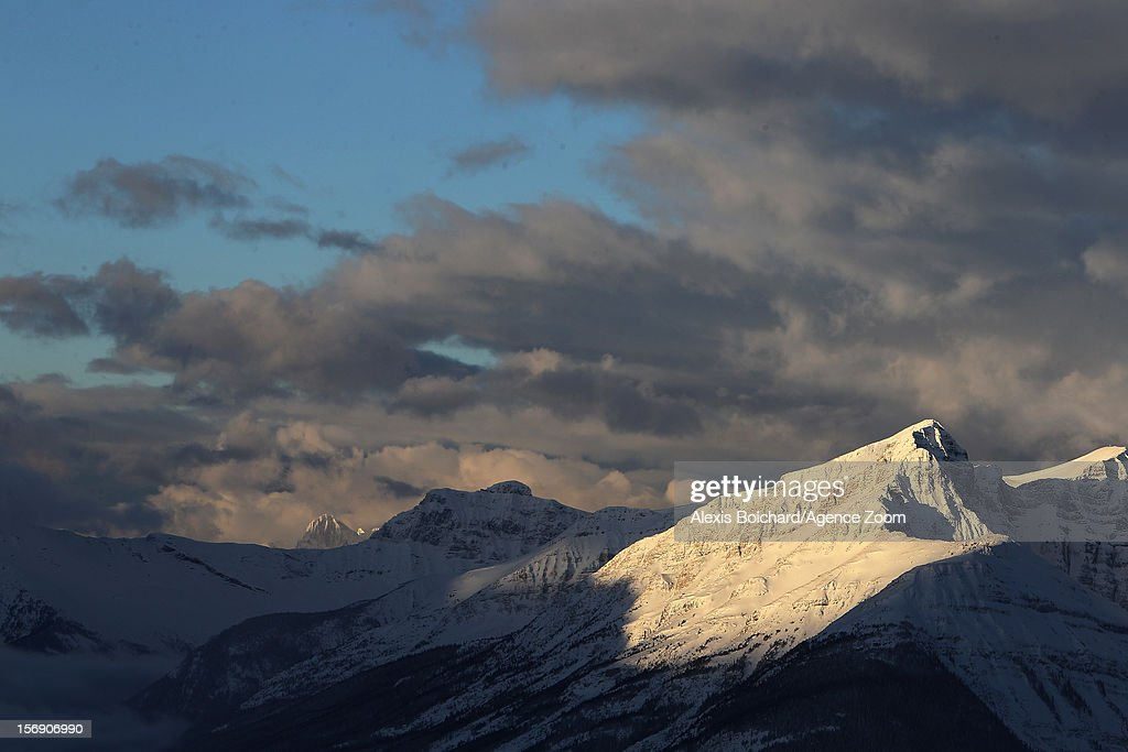 Lake Louise during the Audi FIS Alpine Ski World Cup Men's Downhill on November 24, 2012 in Lake Louise, Alberta, Canada.
