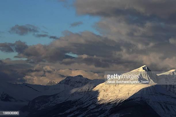 Lake Louise during the Audi FIS Alpine Ski World Cup Men's Downhill on November 24 2012 in Lake Louise Alberta Canada