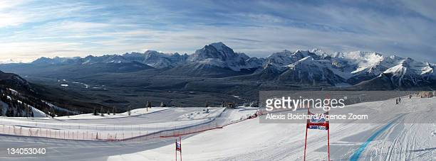 Lake Louise during the Audi FIS Alpine Ski World Cup Men's Downhill training on November 24 2011 in Lake Louise Canada