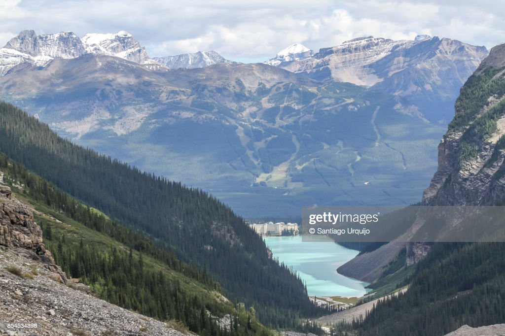 Lake Louise in Banff National Park : Stock Photo