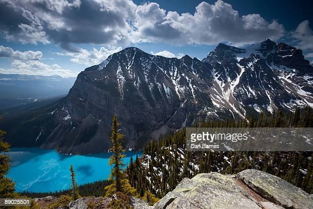 lake louise - dan peak stock photos and pictures