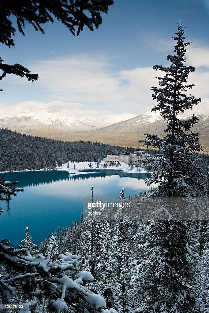 Lake Louise Winter Morning : Stock Photo