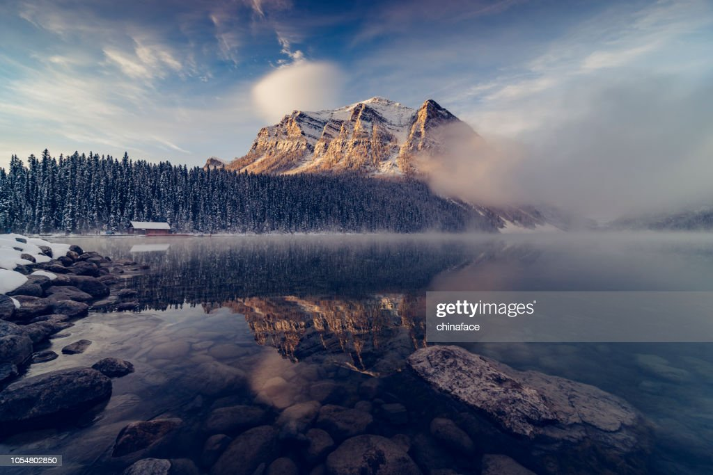 Lake Louise,winter view : Stock Photo