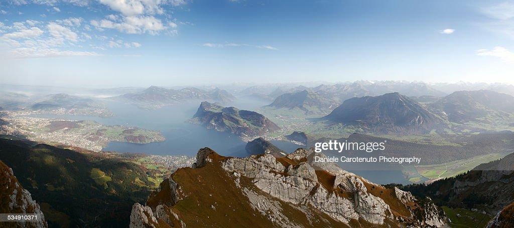 Lake Lucerne from Pilatus : Stock Photo