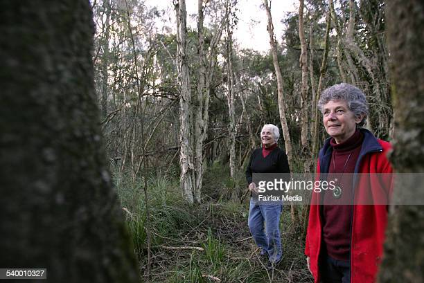 Lake Macquarie Coastal and Wetlands Alliance members Leslie Jacobi and Marion Armstrong on BHP land at Readhead, which will be named as a State Park,...