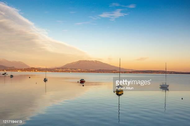 lake maggiore, northern italy - stresa stock-fotos und bilder
