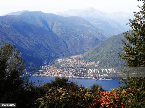 Lake Maggiore photographed from the mountain