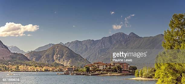 Lake Maggiore with Isla Pescatori and Baveno.