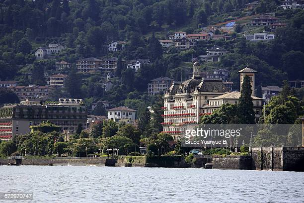 Lake Maggiore with town of Stresa in background