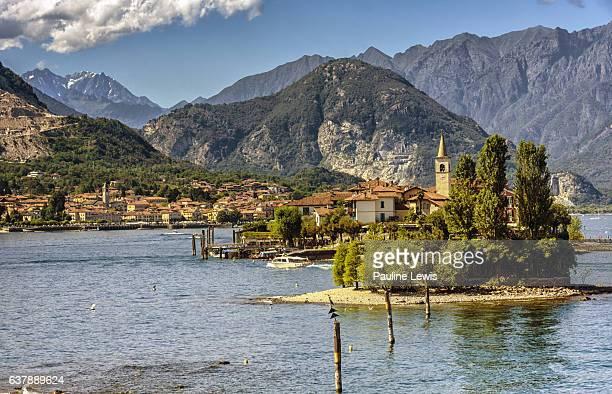 Lake Maggiore withe Baveno and Isla Pescatori.