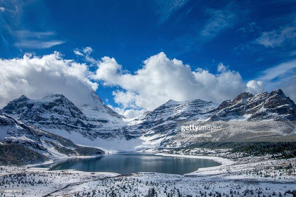 Lake Magog at Mount Assiniboine Provincial Park, Canada : Stock Photo