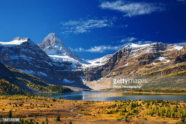 Lake Magog with Mountain