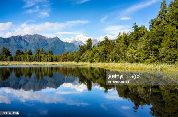 Lake Matheson And New Zealand's Southern Alps