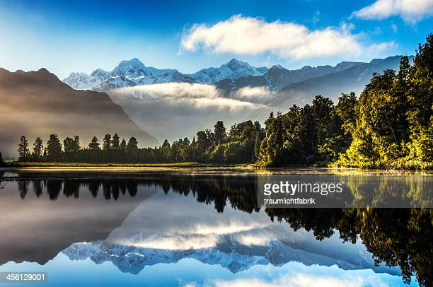 Lake Matheson at sunrise