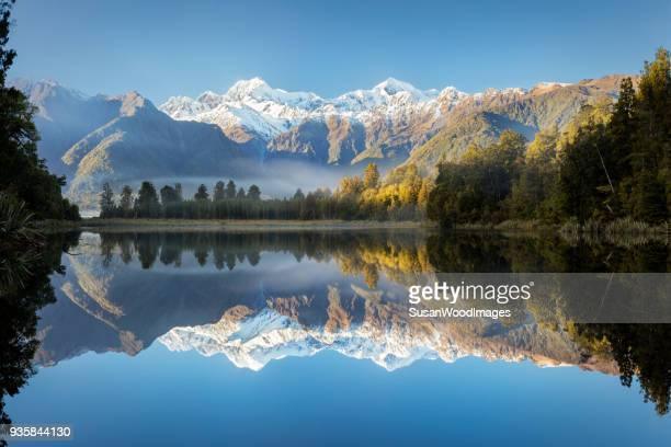 Lake Matheson early morning, New Zealand